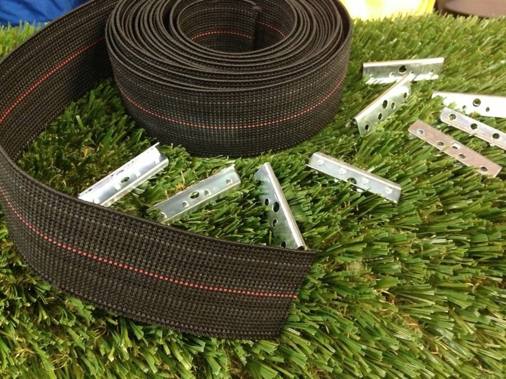 USA Premium Store WEBBING REPAIR KIT - 16' OF STRAP + 16 CLIPS FOR WICKER / RATTAN ELASBELT