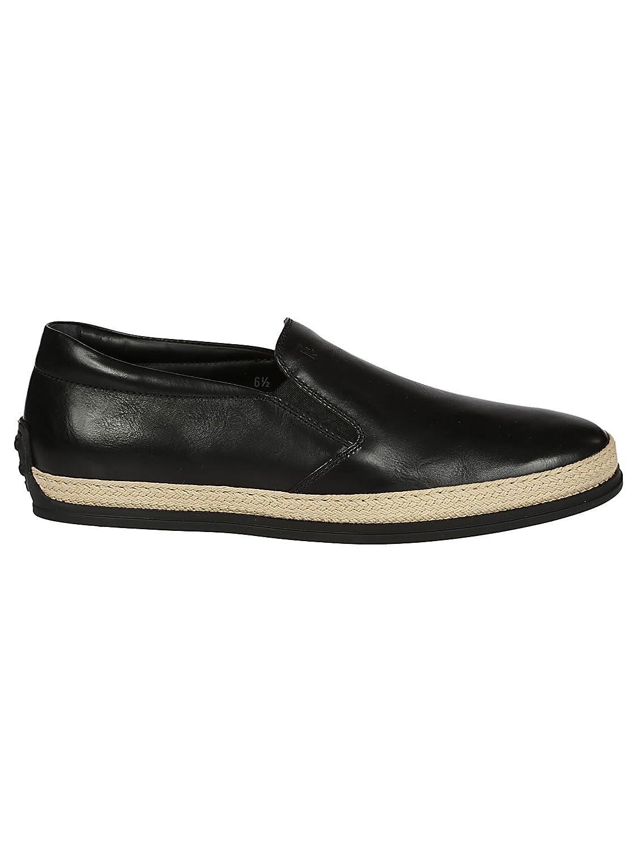 Tod's メンズ XXM0TV0K900DVRB999 ブラック 革 運動靴 B07DVFWMRP