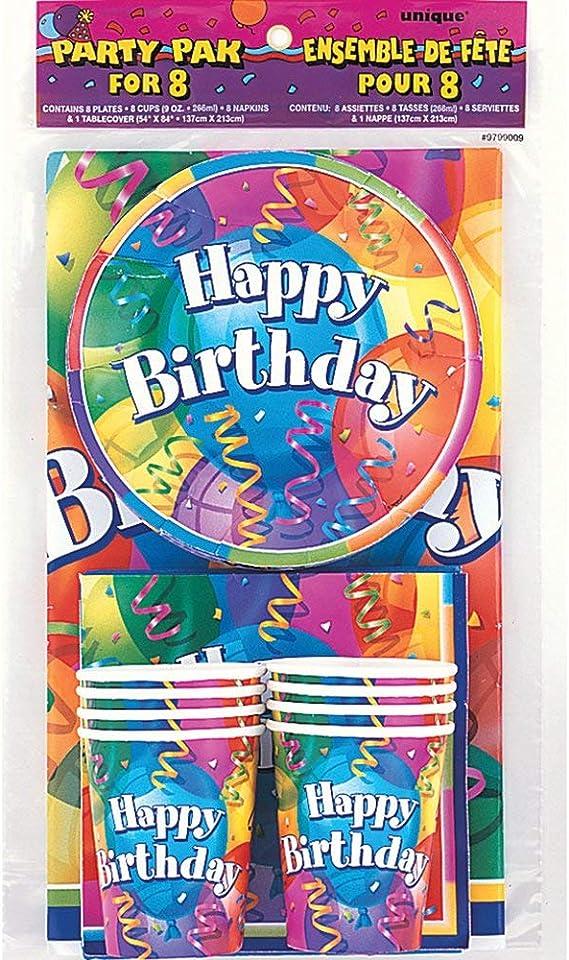 Royal Blue Fête Tableware-Disposable Supplies des nappes plates Balloons {1 C}