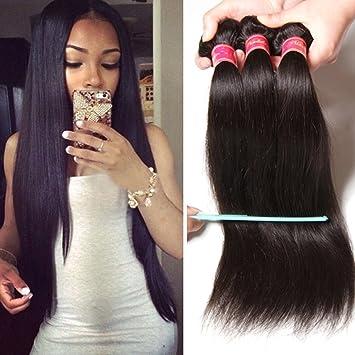 Amazon.com   Nadula 8A Brazilian Straight Hair Weaves 3pcs lot Virgin Remy  Human Hair Bundles Natural Color (8 10 12)   Beauty ada9239f7b82