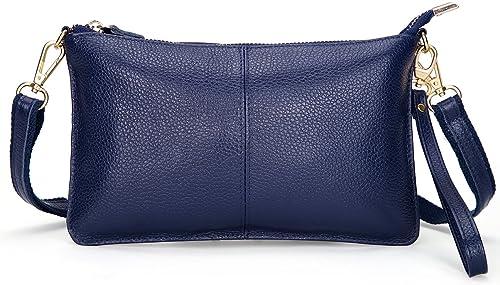 SCIEN Clutch Purse Wallet with Wrist Strap Leather Crossbody Shoulder Bag for Women