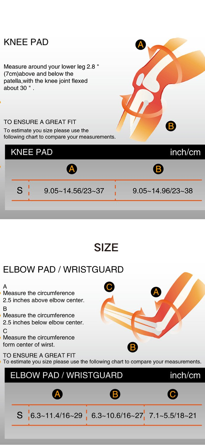 LANOVAGEAR Kids Adjustable Protective Gear Knee Elbow Pads Wrist Guard for Multi Sports Safety Protection Inline Skating Bicycle Cycling Skateboarding Rollerblade Biking Riding by LANOVAGEAR (Image #8)