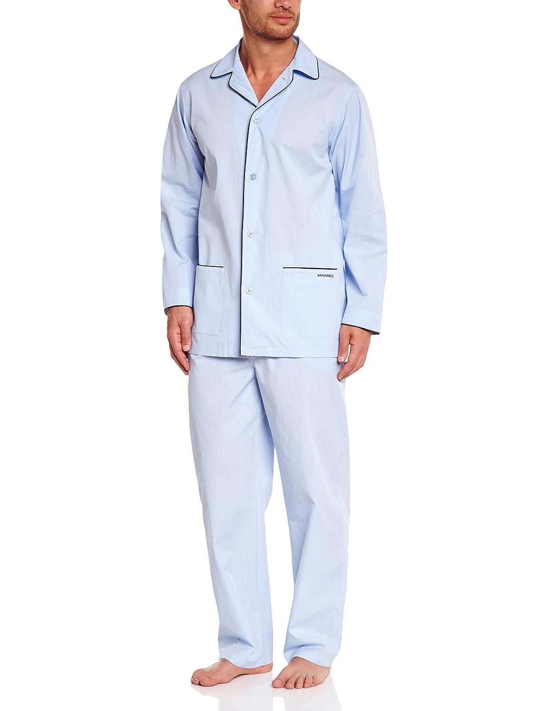 Mariner Herren Zweiteiliger Schlafanzug Long  Uni Fil à Fil