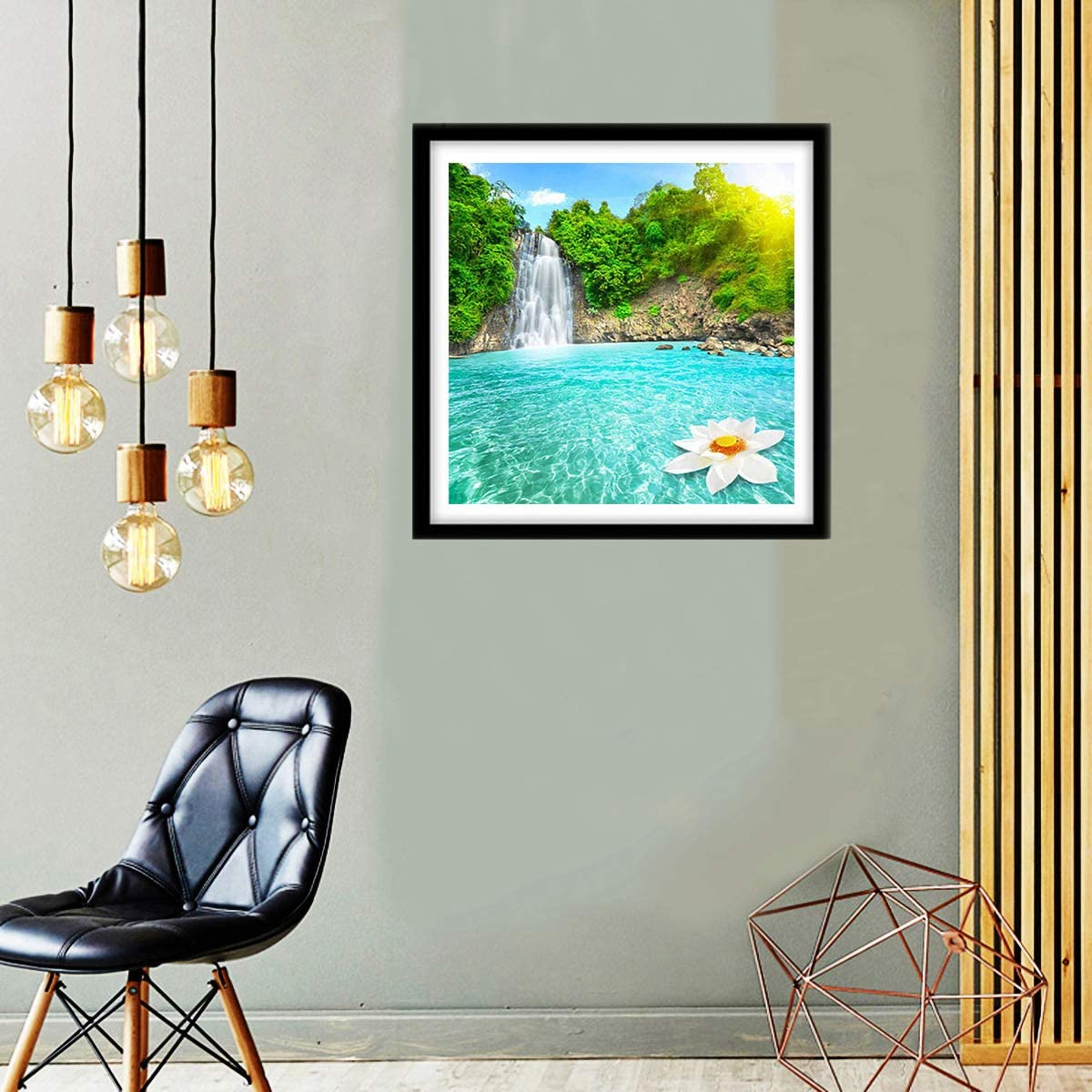 11.8 x 11.8 Inches Without Frame 5D DIY Diamond Painting Kit Full Drill Crystal Embroidery Painting Cross Stitch Arts Crafts for Home Wall Decor