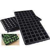 10 Pack Seed Starter Kit, 72 Cell Seedling Trays Gardening Germination Plastic Tray Nursery Pots Mini Propagator Plant Grow K