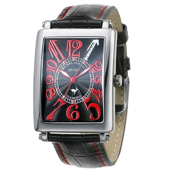 Michelle Jordan Reloj Sport Diamond todos los para hombre negro de piel SG3000 – 1 (