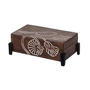 Amazon.com: Hecho a mano joyería de madera recuerdo caja ...