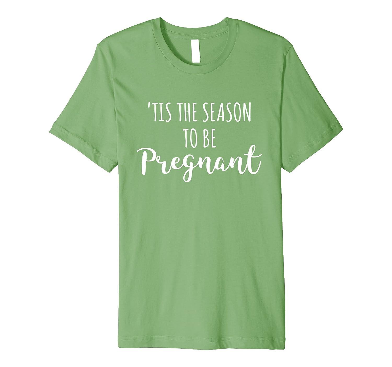 Cute Christmas Pregnancy Announcement Pregnant Gift Shirt-FL