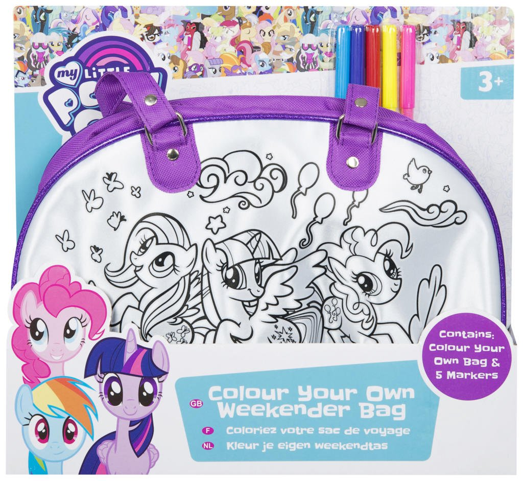Little Pony My Color Your Own Weekender Bag and 5 Markers by Little Pony (Image #2)