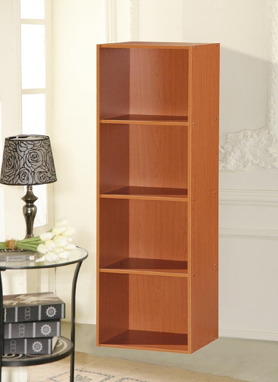 Hodedah 4 Shelve Bookcase Beech