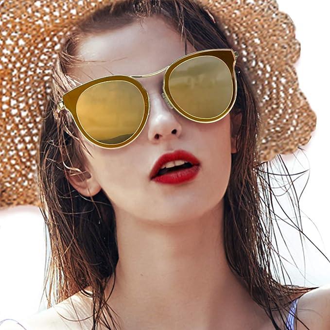 1ae80e1e44 Gafas de sol de ojo de gato para mujeres, gafas polarizadas de moda vintage  para