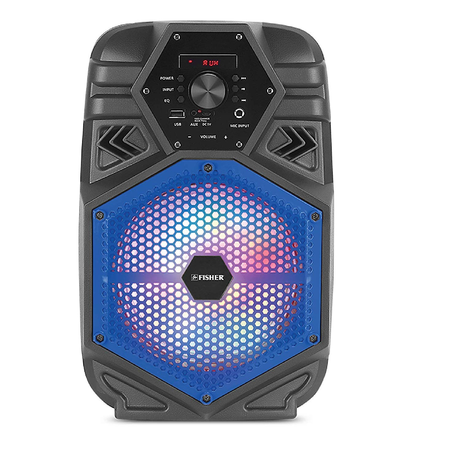 Fisher FBX880 Bluetooth Karaoke Speaker System with Remote Control (Blue)