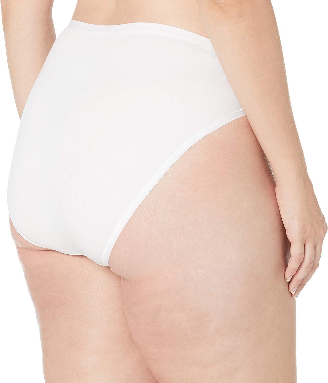Underwear Donna Plus-Size 6-Pack Hi-Cut Cotton Stretch Bikini Panty Essentials