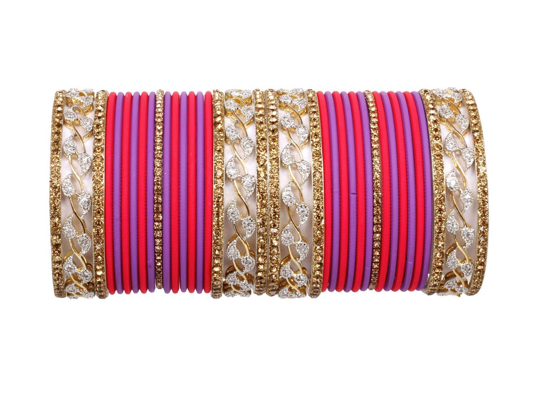 Ratna Bollywood Ethnic bangle set for women Traditional More color 38 pcs wedding bangles jewellery (2.6)