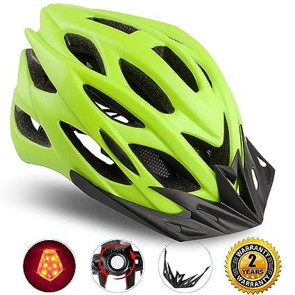 Shinmax Casco Especializado de la Bici con la luz SeguridadCasco Ciclo Ajustable Deporte Cascos Bici Bicicleta
