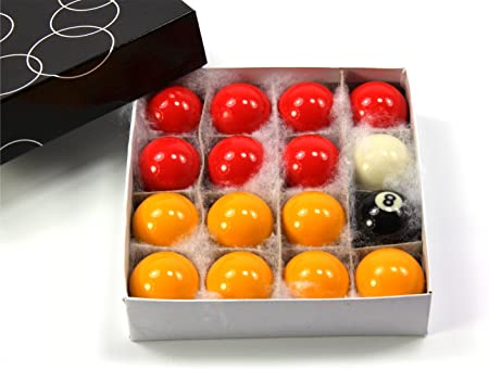 Kids Small ECONOMY RED & YELLOW POOL Ball Set - 1 1/2Inch (38mm ...