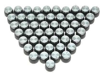 kaish 50pcs para amplificador de guitarra Amplificador Push en la parte superior pomos de ajuste negro