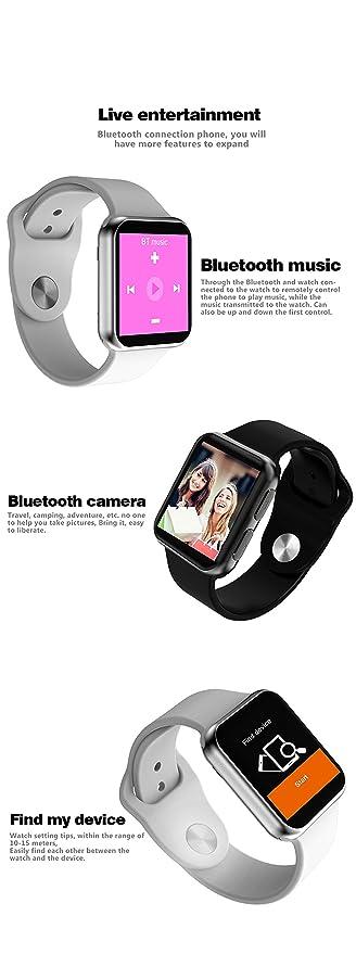 Amazon.com: SHENGMO I3S smart watch support heart rate monitor blood pressure reloj inteligente fitness bracelet PK DM09 GT88 QW08 watches for men (white): ...