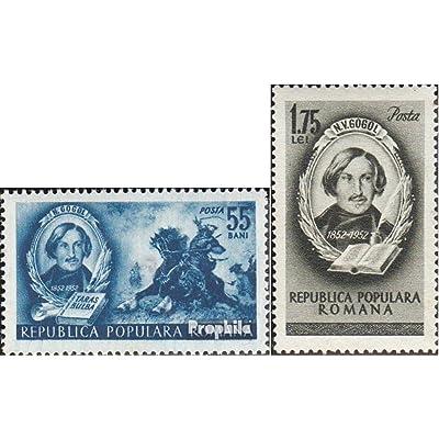Roumanie 1389-1390 (complète.Edition.) 1952 Mort de nikolai w.gogol (Timbres pour les collectionneurs)