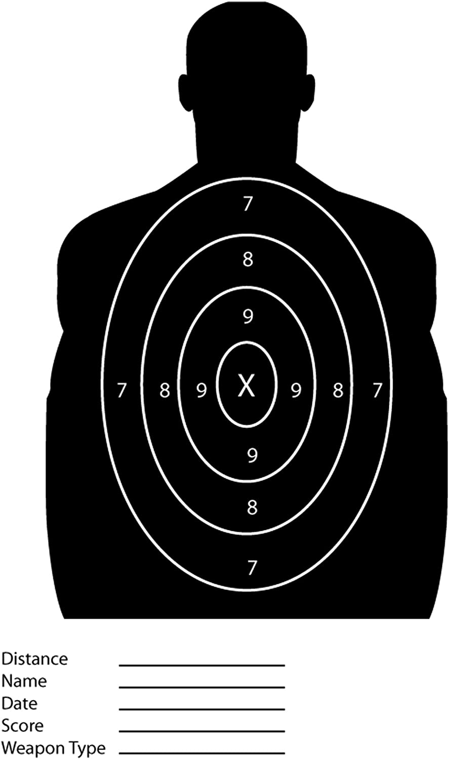 iCandy Combat Black Silhouette Paper Shooting Targets for The Range