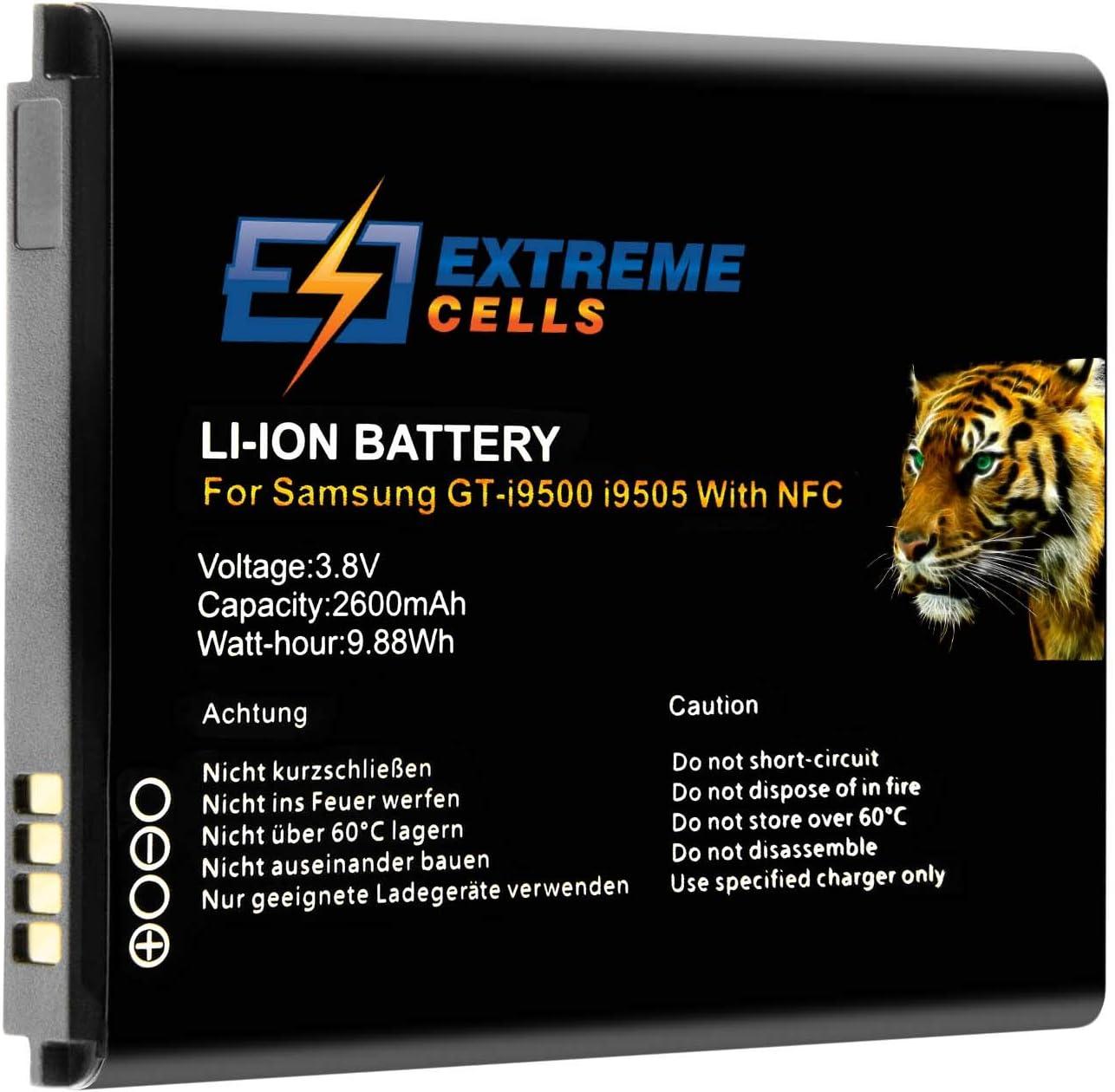 Extremecells - Batería Compatible con Samsung Galaxy S4 Active S IV NFC GT-i9500 I9505 i9295 EB-B600