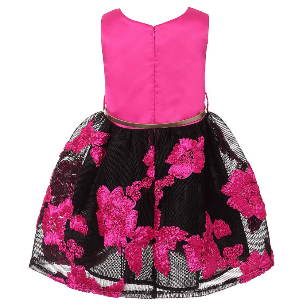 FLYWM Vestido de niña Princesa Vestido Cuello V Falda ...