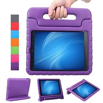 LEADSTAR Apple iPad Air 2 / iPad 6 Funda para niños EVA antichoque ligera destinado a prueba de golpes Protección Funda Tapa (Violeta)