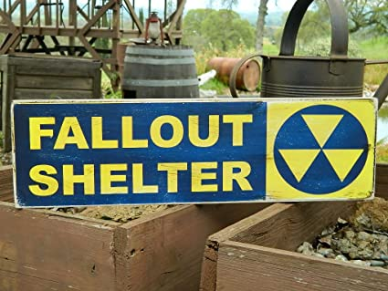 man cave country primitive distressed wood print sign 75 x 24 fallout shelter halloween