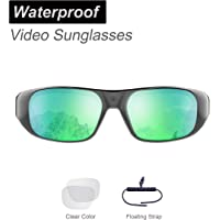OhO Sunshine 32GB Ultra 1080P Full HD Waterproof Outdoor Sports Action Camera Sunglasses and 2 Sets Polarized UV400 Protection Safety Lenses
