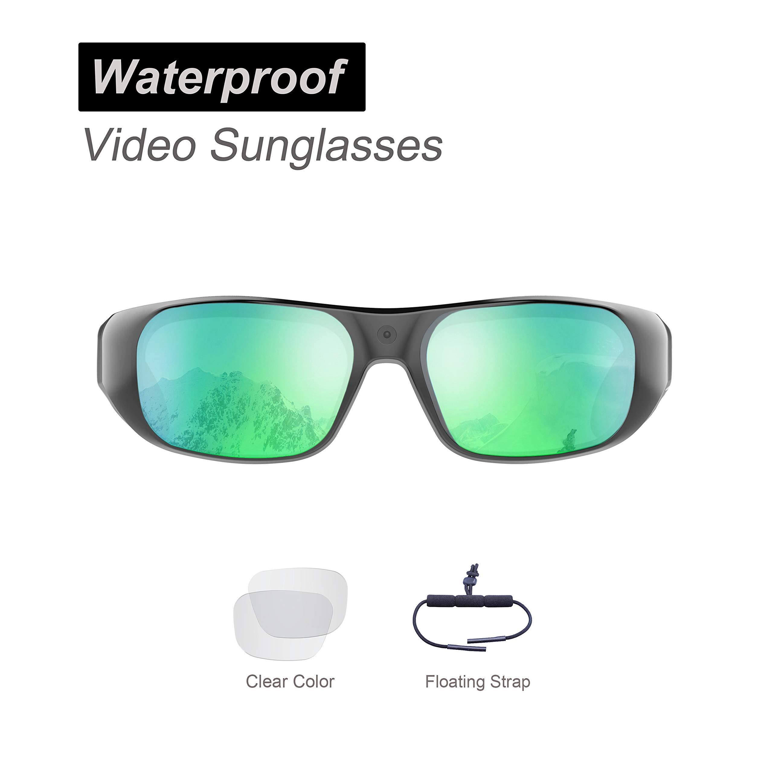 Waterproof Video Sunglasses,32GB Ultra 1080P Full HD Outdoor Sports Action Camera and 2 Sets Polarized UV400 Protection Safety Lenses,Unisex Sport Design by OhO sunshine