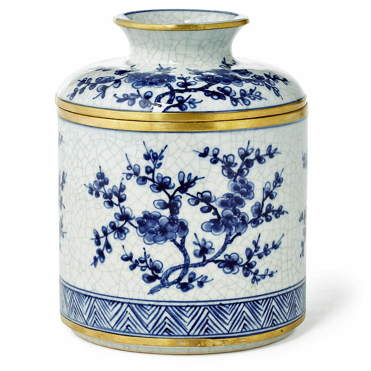 ''ENGLISH GARDEN'' BLUE & WHITE PORCELAIN DISPENSER - TISSUE COVER - TISSUE HOLDER by KensingtonRow Home Collection