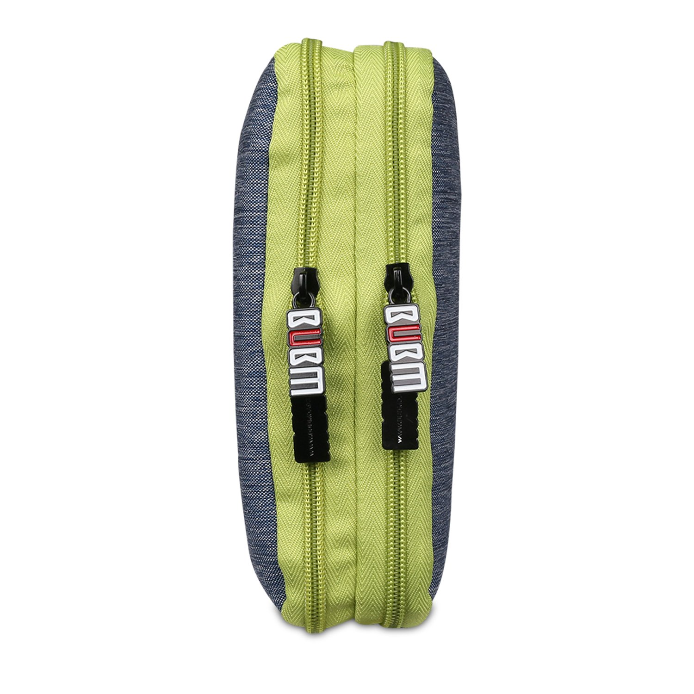 BUBM Multi-Function Soft Waterproof Handbag Double Layer Travel Gear Organizer//Electronics Accessories Bag//Phone Charger//iPad Mini Air Handbag Large, Rose and Gray