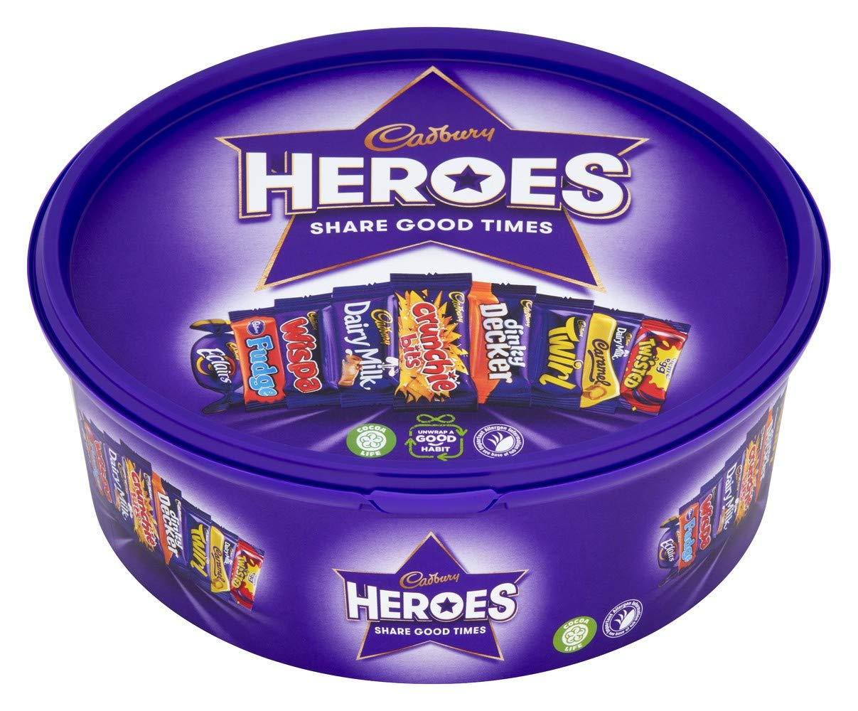 Cadbury Heroes Chocolate Tub, 660 g