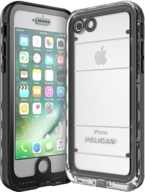 Amazon Com Pelican Marine Waterproof Iphone 7 Case Black Clear