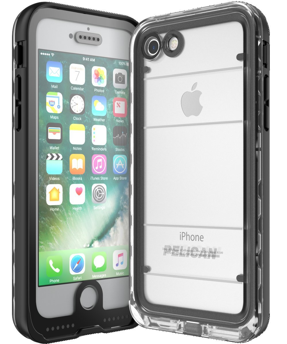 Amazon.com  Pelican Cell Phone Case for Apple iPhone 7 - Black Clear  Cell  Phones   Accessories 413a9fb7d