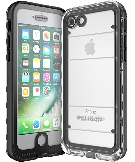 the latest 02a13 770e3 Pelican Marine Waterproof iPhone 7 Case (Black/Clear)