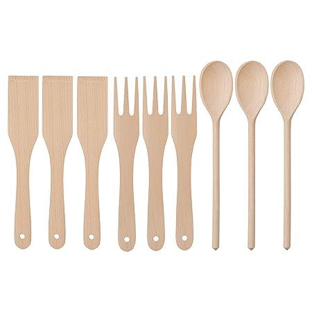 Ikea FILBUNKE - Set di 9 utensili da cucina in legno: Amazon ...