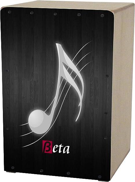 Cajón flamenco Beta mod. MUSIC negro | Caja musical rumbera de percusión en abedul. Tamaño: mini.: Amazon.es: Instrumentos musicales