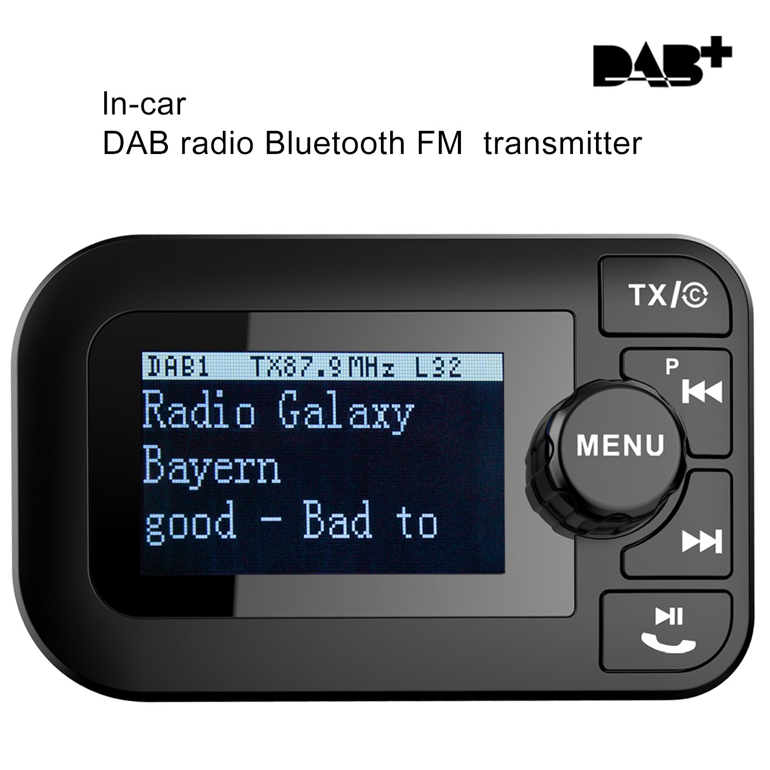 5 in 1 car dab digital radio with bluetooth fm. Black Bedroom Furniture Sets. Home Design Ideas