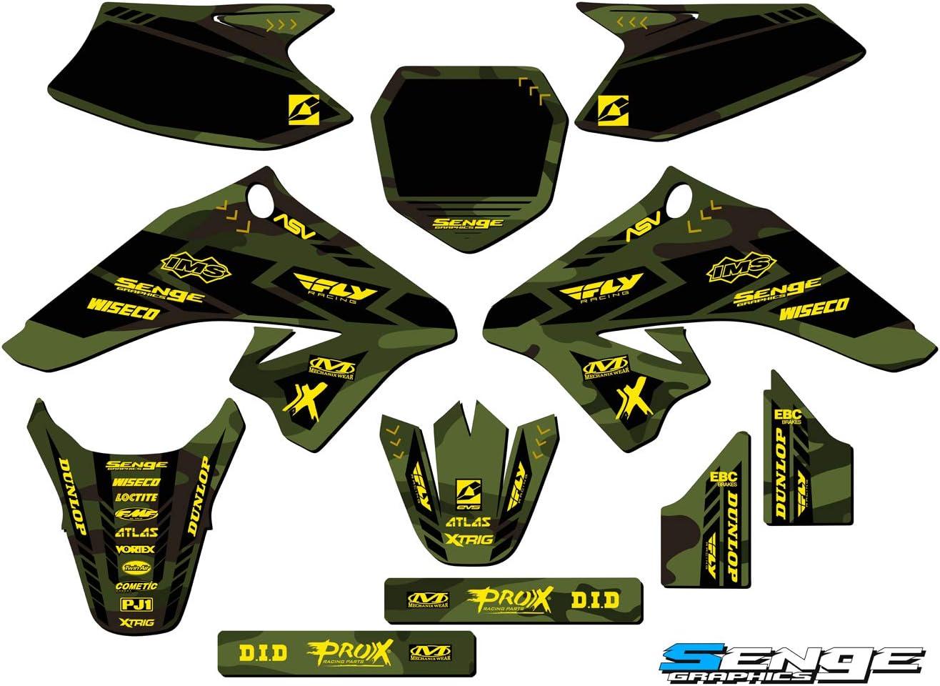Compatible with Suzuki. Senge Graphics Apache Green Base Graphics Kit 2008-2019 DRZ 70