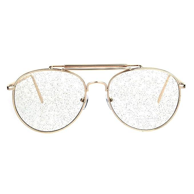 Amazon.com: Gafas de sol para mujer con lentes de purpurina ...