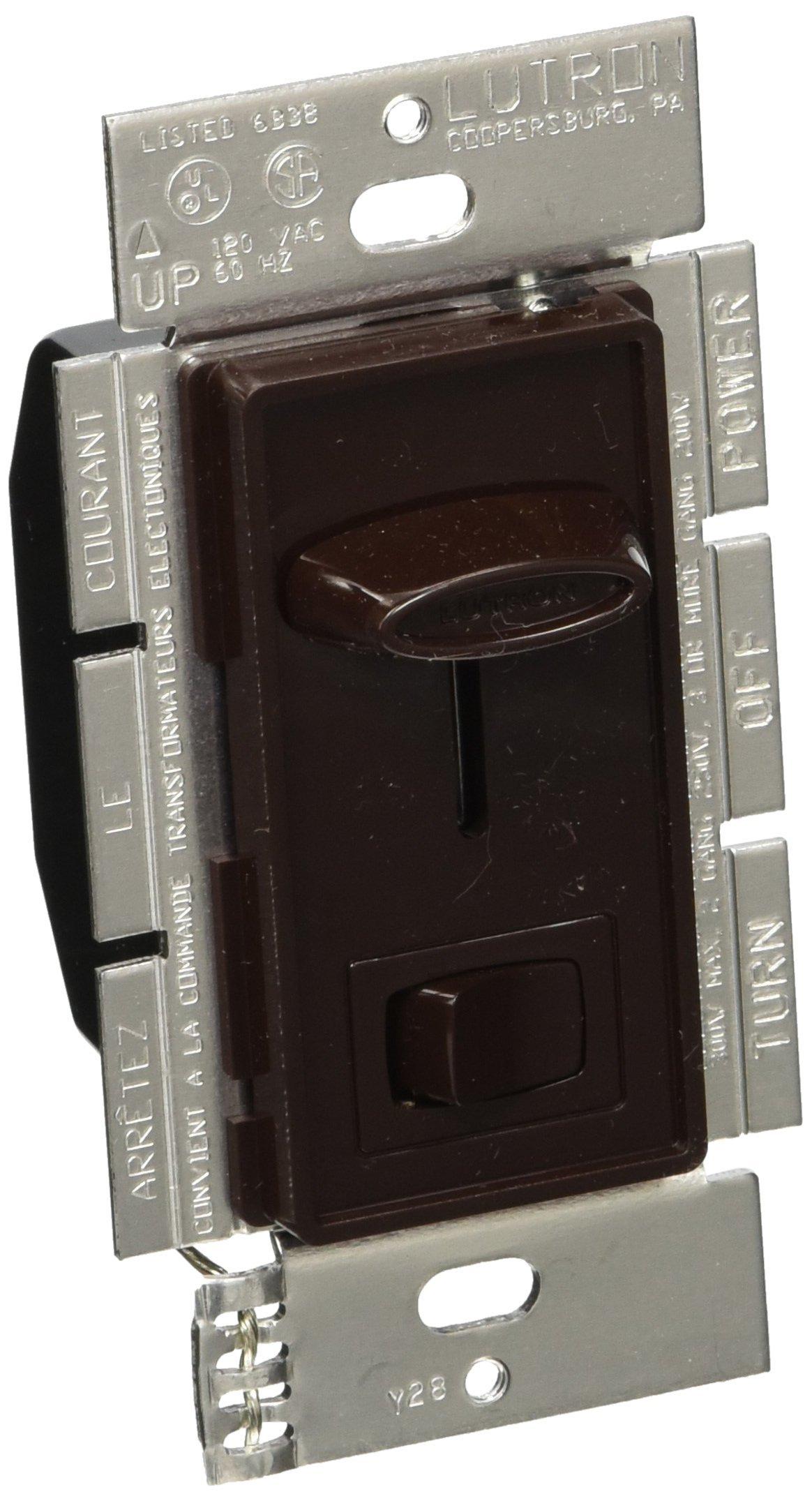 Lutron Lutron SELV-303P-BR Skylark 300-Watt 3-Way Electronic Low-Voltage Dimmer, Brown