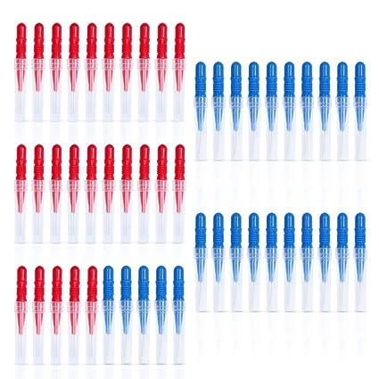 ewinever(R) 2.5mm 3.0mm Limpiadores de cepillo interdental 50 piezas de Toothpick
