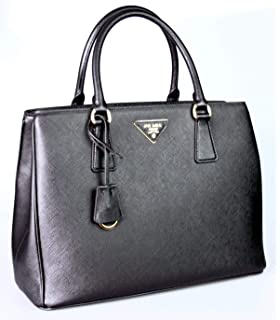 edcea4cd3fdf Prada Women s Saffiano Lux Brown Handbag 1BA863  Handbags  Amazon.com