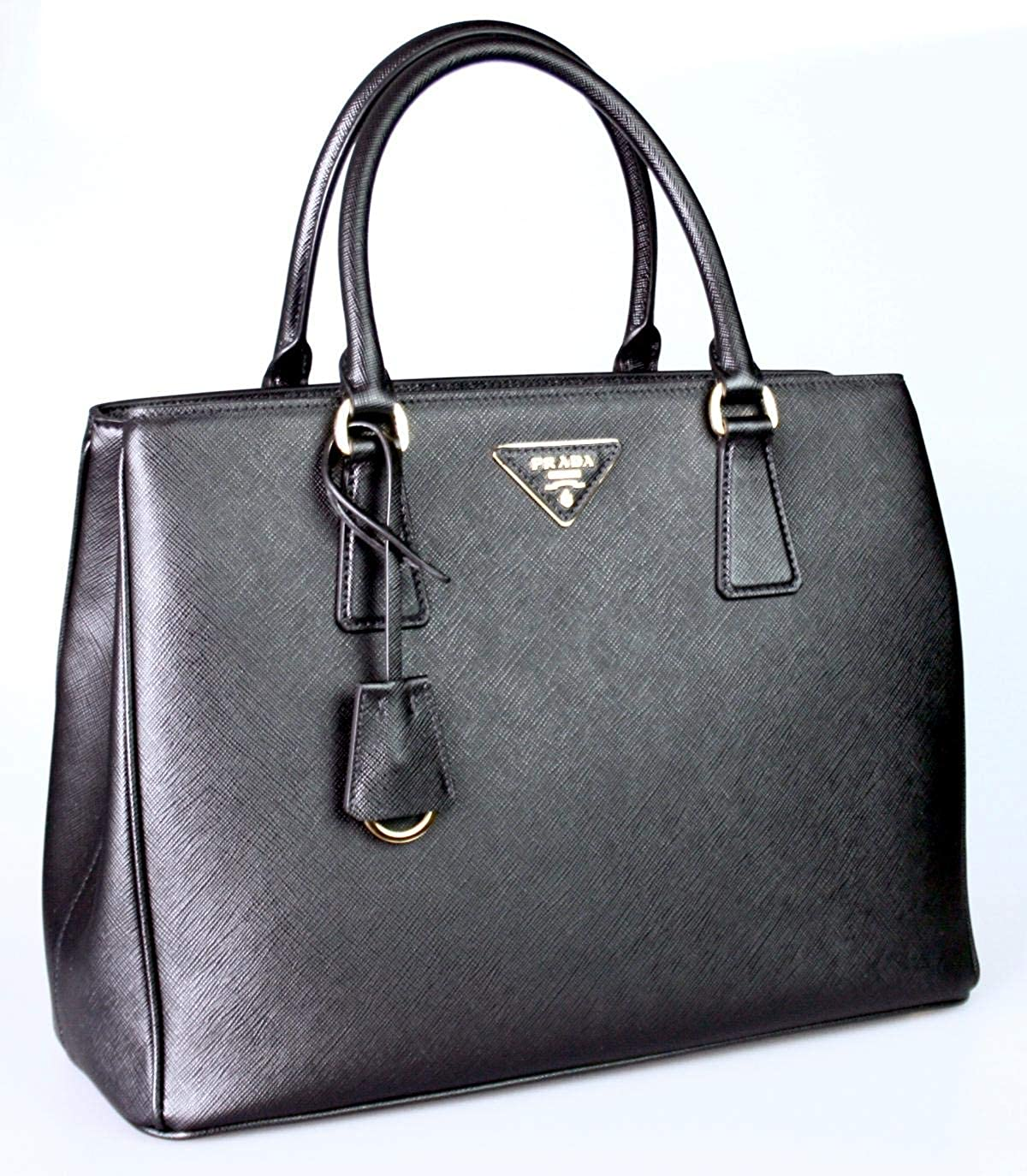 27ea2c36aa57 Prada Women's Saffiano Lux Black Handbag 1BA874: Handbags: Amazon.com