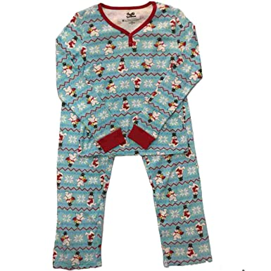 97d75e4e3d Frosty Womens The Snowman Pajamas Nordic Snowflake Thermal Sleep Set Small