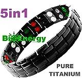 TITANIUM Magnetic Energy Germanium Armband Power Bracelet Health Bio 4in1 Bio DJ