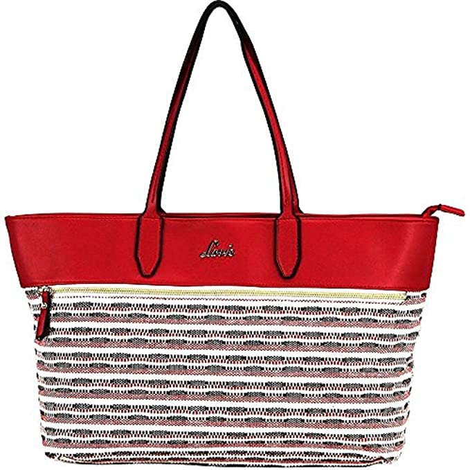 b34b266e1a99 Lavie Women s Rutul LG Shopper Red Large Hand Bags  Amazon.in  Clothing    Accessories