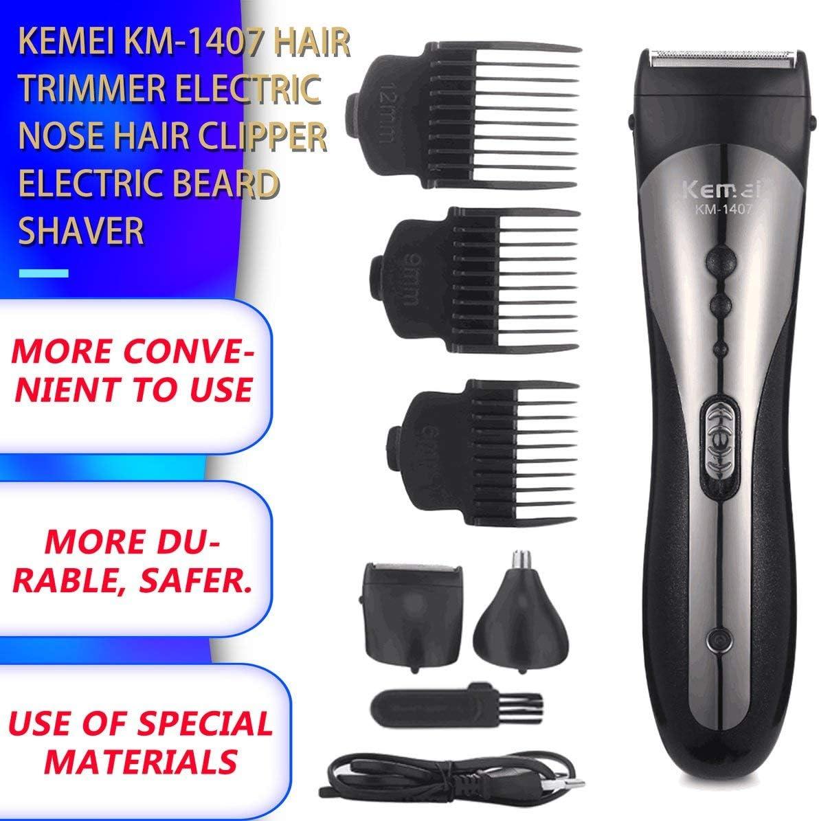 KEMEI KM-1407 Cortadora de cabello multifuncional Cortadora de ...