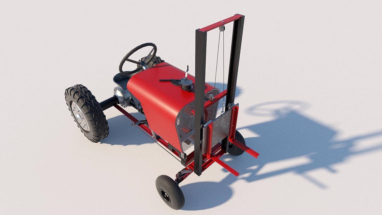 Fork Lift Attachment Plans DIY Forklift Garden Tractor Material Handling Lifting